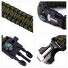 5 in 1 Outdoor Survival Paracord Bracelet - ARMY GREEN