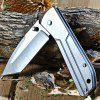Sanrenmu 7071 LTF-SZ Folding Knife with Frame Lock - SILVER