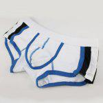 Elastic Waist U Pouch Design Comfortable Color Block Spliced Men's Boxer Brief deal