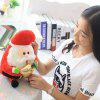 SC32C 30cm Swing Cap Style Santa Claus Design Indoor Christmas Decoration - RED WITH WHITE