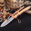 GANZO G621 Liner Lock Folding Knife Stainless Steel Blade - BLACK AND ORANGE