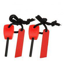 2pcs Outdoor Survival Fire Starter with Scraper