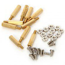 10pcs DIY 11mm Copper Cylinder + Screw + Nut Set for Raspberry Pi