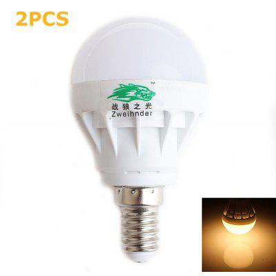 2 x Zweihnder 3W 300Lm SMD 5730 E14 LED Bulb Light