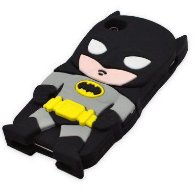 3D Batman Pattern Silicone Protecitve Back Case for iPhone 6 / 6S