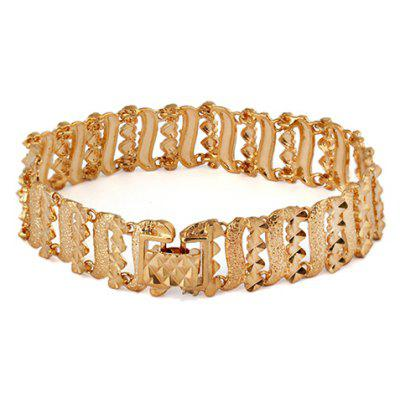 Vintage Solid Color Hollow Out Bracelet For Women