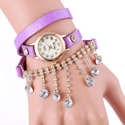 yilisha 2576 Women Rhinestone Shell Face Quartz Watch
