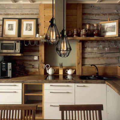 E27 Retro Iron Pendant Light Lamp Holder