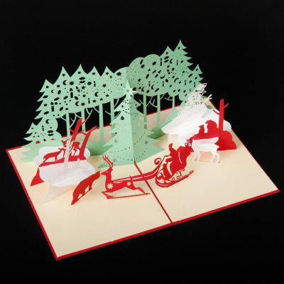 Deer and Forest Design Christmas Card