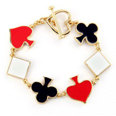 Square Plum Blossom Peach Shape Hollow Out Bracelet