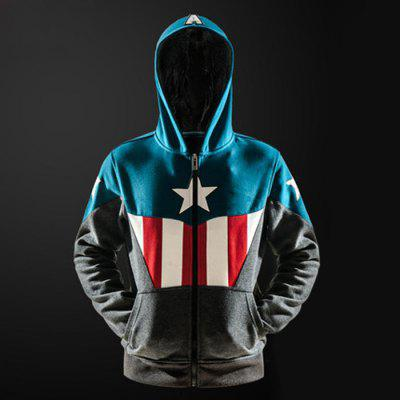 MUCUN3SHE American Captain Geeky Hoody for Men
