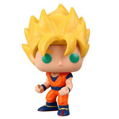 Q Version Dragonball Super Saiyan Vegeta Movie Anime Figure Toy Cartoon Present
