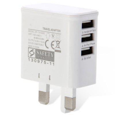 3 Port USB Power Adapter / Wall Charger