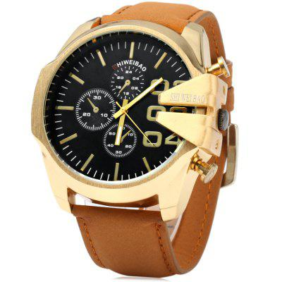 Shiweibao A1107 Golden Case Men Quartz Watch