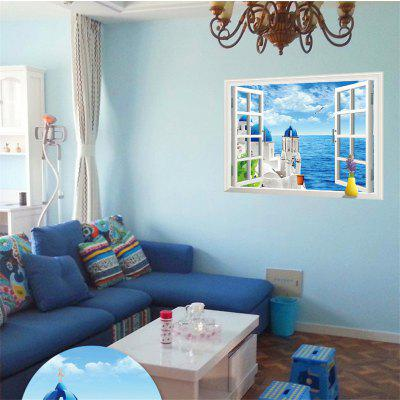3D Love Sea Design PVC Wall Stickers