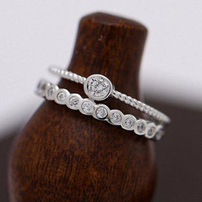 Charming Double-Layered Rhinestone Cuff Ring For Women