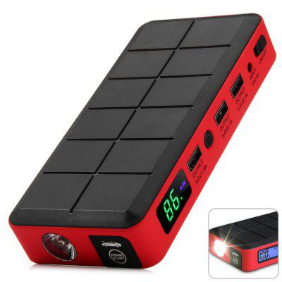 V1 High Capacity 12000mAh Emergency Car Jump Starter Battery Power Source with 3 USB Charging Port