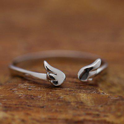 Charming Solid Color Wing Shape Cuff Ring For Women