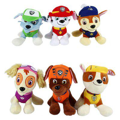 6Pcs 7 inch Design Cute Plush Toy with Suction Cup