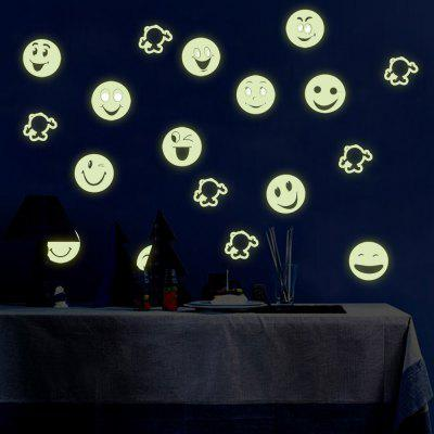 Colorful Cartoon Smiling Face Style Wall Stickers