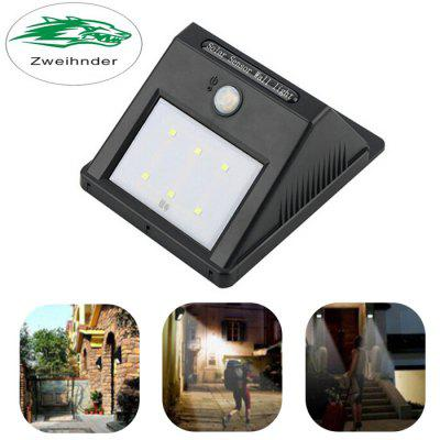Zweihnder Waterproof Solar Powered PIR Wall Light