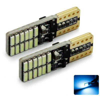 2pcs T10-3014-24SMD LED Car Clearance License Plate Light