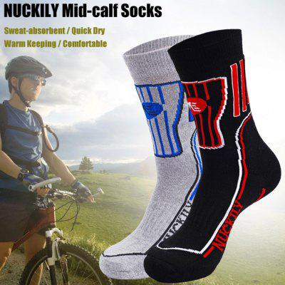 NUCKILY Men Mid-calf Socks Warm Cotton Made