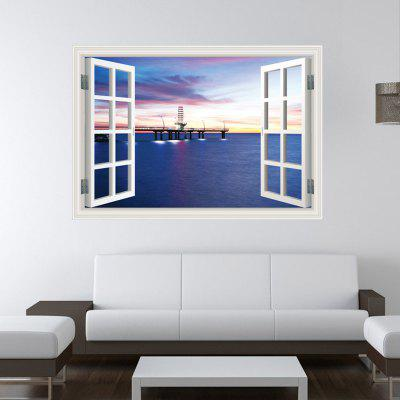 Creative Harbour Night Style 3D Wallpaper