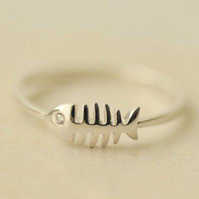 Cute Solid Color  Fishbone Shape Ring For Women