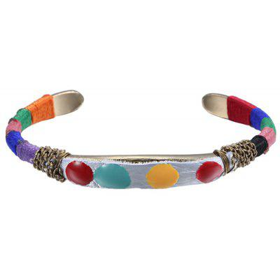 Chic Colorful Ethnic Cuff Bracelet For Women