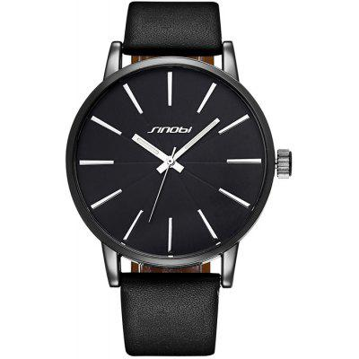 Buy BLACK SINOBI 2651 Japan Quartz Leather Band Male Watch for $12.63 in GearBest store