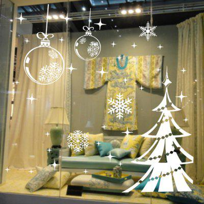 Christmas Tree and Snowflake Style Wallpaper