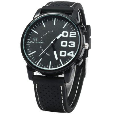 GT Japan Quartz Watch with Rubber Strap for Men