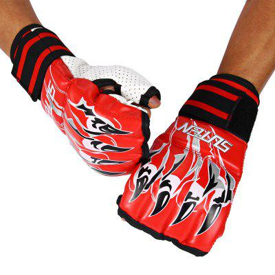 SUTEN 1 Pair Half Finger Fighting Sandbag Gloves