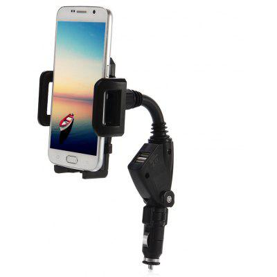 Dual USB Car Charger Phone Holder Mount