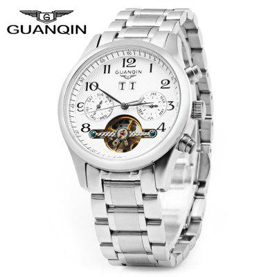 GUANQIN Men Calendar Automatic Mechanical Watch