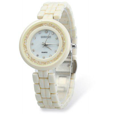 WEIQIN W3224 Shell Dial Ultra-thin Ceramic Women Quartz Watch