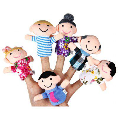 6 Pcs Family Educational Finger Puppets Toys