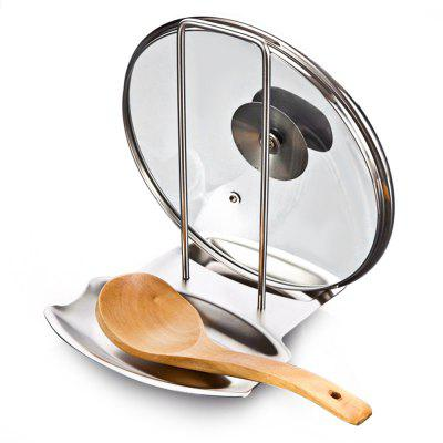 Stainless Steel Pot Lid Holder Spoon Rest Combo for Kitchen