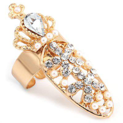 Female Jewelry Decorative Joint Drill Bow Crown Armor Nails Ring
