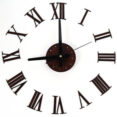 Creative Wooden Grain DIY Wall Clock