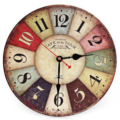 Wooden Decorative Round Wall Clock