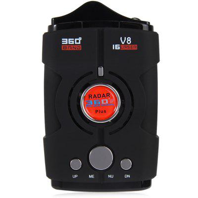V8 Car Radar DetectorSafety warning device<br>V8 Car Radar Detector<br><br>Apply To Car Brand: Universal<br>Material: Plastic<br>Model: V8<br>Package Contents: 1 x V8 Car Speed Voice Alert Russian Radar Detector, 1 x Car Charger (DC12V), 1 x Anti-slip Mat, 1 x Bilingual User Manual in English and Russian<br>Package size (L x W x H): 14.50 x 8.50 x 8.00 cm / 5.71 x 3.35 x 3.15 inches<br>Package weight: 0.223 kg<br>Power Cable Length: About 80cm<br>Product size (L x W x H): 10.00 x 5.50 x 3.00 cm / 3.94 x 2.17 x 1.18 inches<br>Product weight: 0.091 kg<br>Type: Speed Control Detector<br>Voltage: 12V<br>Waterproof: No