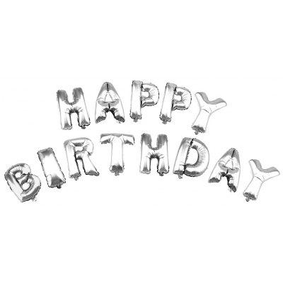 Aluminum Foil Letter Happy Birthday Helium Balloon Party Decoration