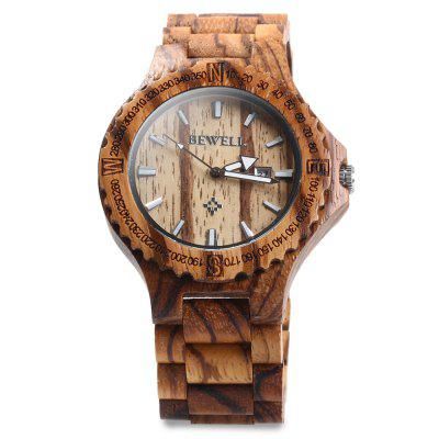 BEWELL ZS - W023A Wooden Date Quartz Wrist Watch for MenMens Watches<br>BEWELL ZS - W023A Wooden Date Quartz Wrist Watch for Men<br><br>Band color: Brown,White<br>Band material: Wood<br>Case material: Wood<br>Clasp type: Folding clasp with safety<br>Display type: Analog<br>Movement type: Quartz watch<br>Package Contents: 1 x BEWELL ZS - W023A Wooden Calendar Quartz Watch<br>Package size (L x W x H): 25.50 x 7.00 x 3.20 cm / 10.04 x 2.76 x 1.26 inches<br>Package weight: 0.1320 kg<br>Product size (L x W x H): 23.50 x 5.00 x 1.20 cm / 9.25 x 1.97 x 0.47 inches<br>Product weight: 0.0620 kg<br>Shape of the dial: The other<br>Special features: Calendar<br>Style elements: Sandalwood<br>The band width: 2.5 cm / 0.98 inches<br>The dial diameter: 4.4 cm / 1.73 inches<br>The dial thickness: 1.2 cm / 0.47 inches<br>Watch style: Fashion<br>Watches categories: Male table<br>Water resistance: Life water resistant