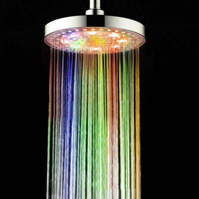 Stylish 4-Color LED Round Top Shower Head
