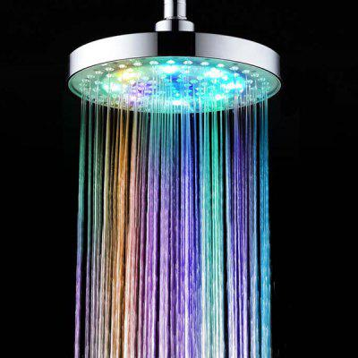 Chic 8 Inch LED Light 7 Colors Glow Supercharged Round Shower Head