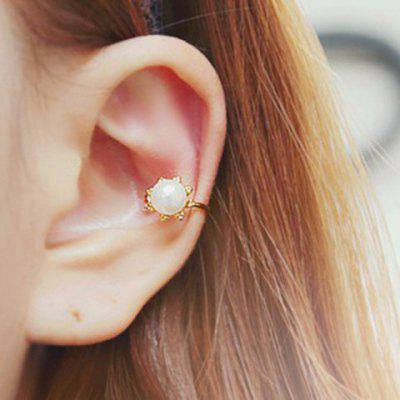 One Piece Exquisite Faux Pearl Solid Color Earring For Women