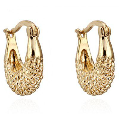 Pair of Vintage Fish Shape Hollow Out Earrings