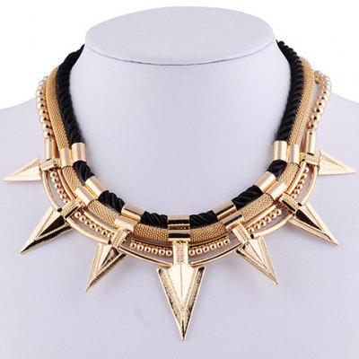 Vintage Triangle Rivet Beads Necklace